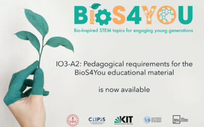 Pedagogical requirements for the Bios4You educational material available now!